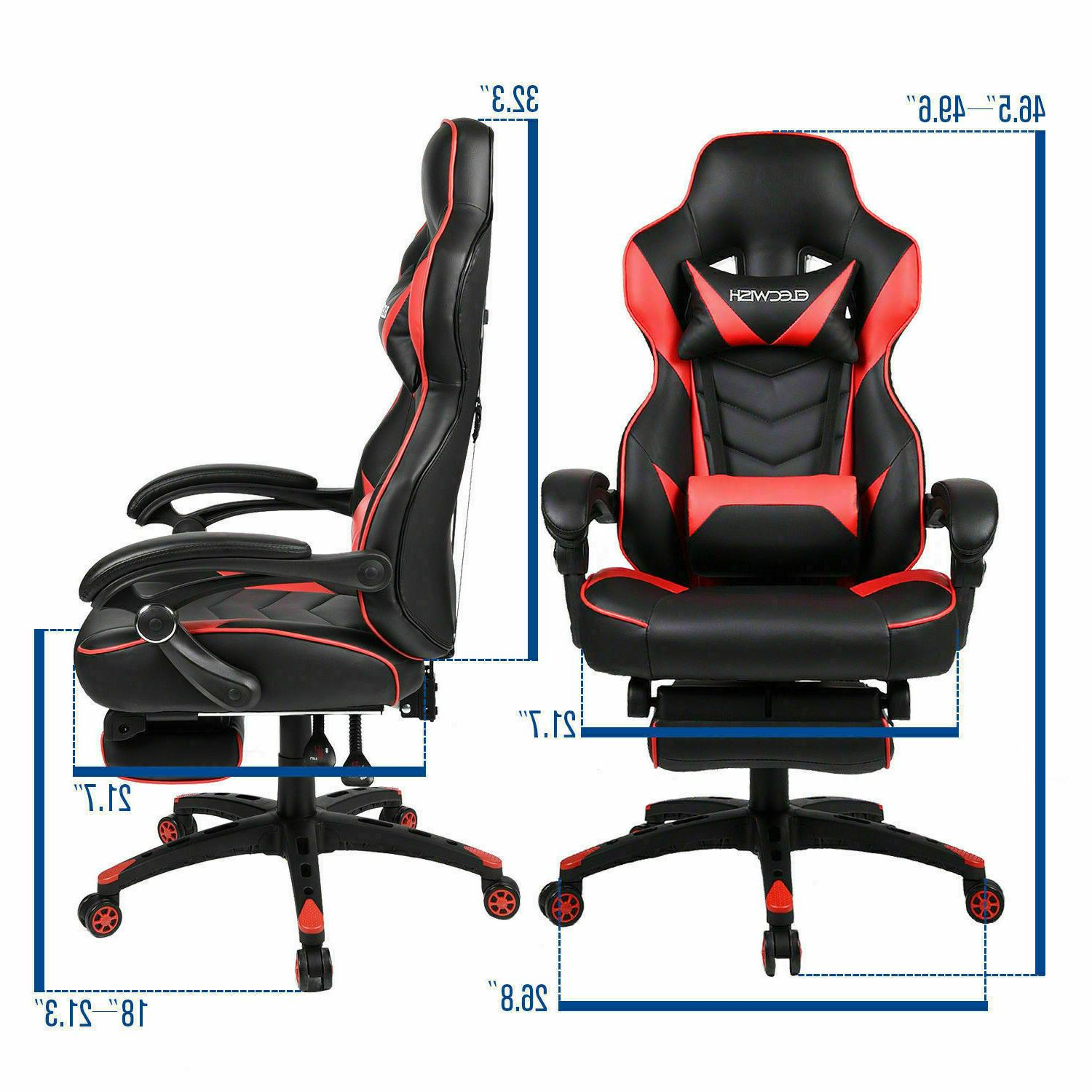 Video Gaming Style Computer Seat Footrest