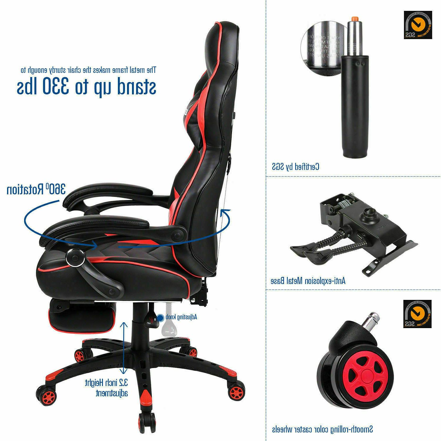 Video Gaming Chair Style Computer Seat