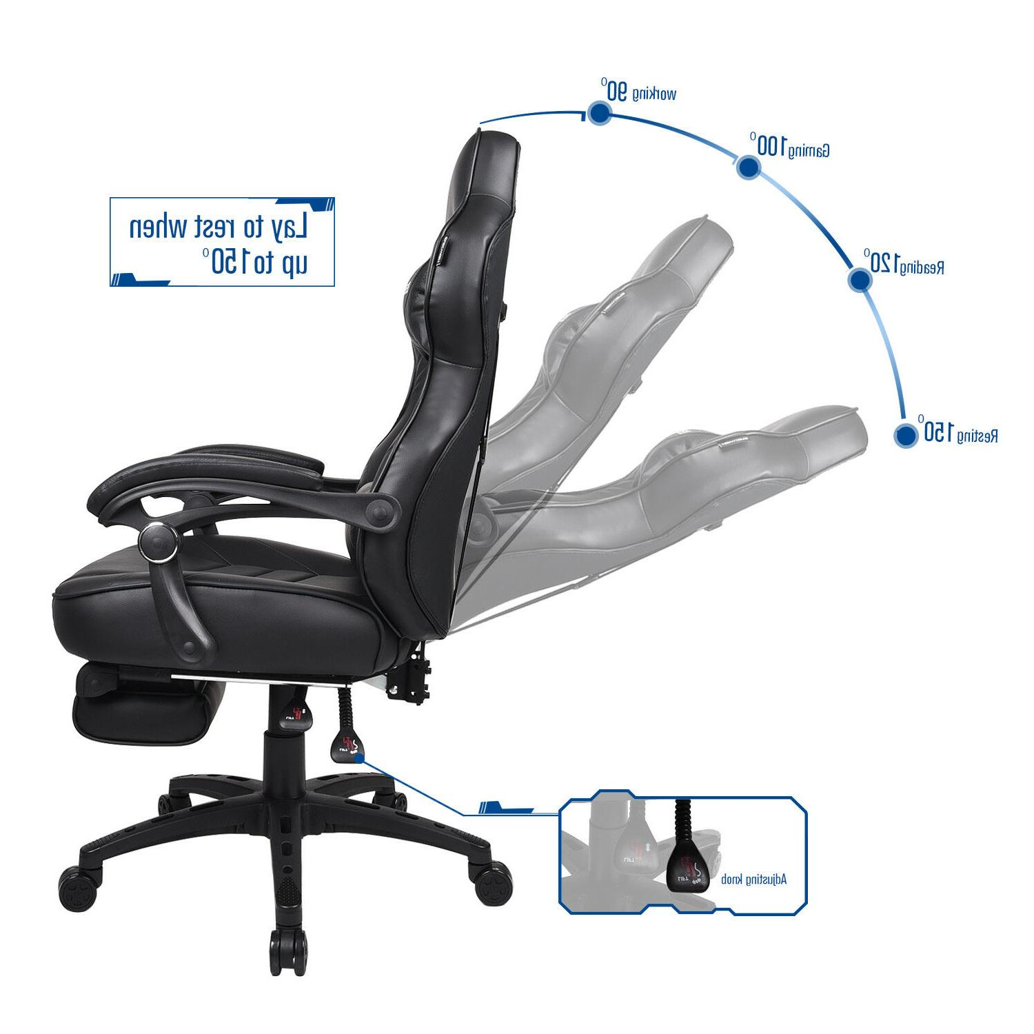 Video Gaming Chair Style Leather Computer