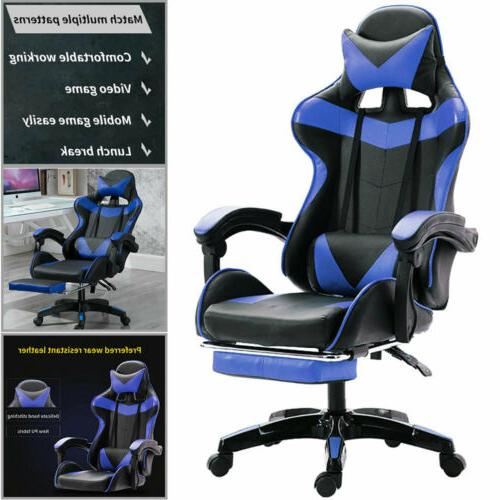 racing style gaming chair leather soft chair