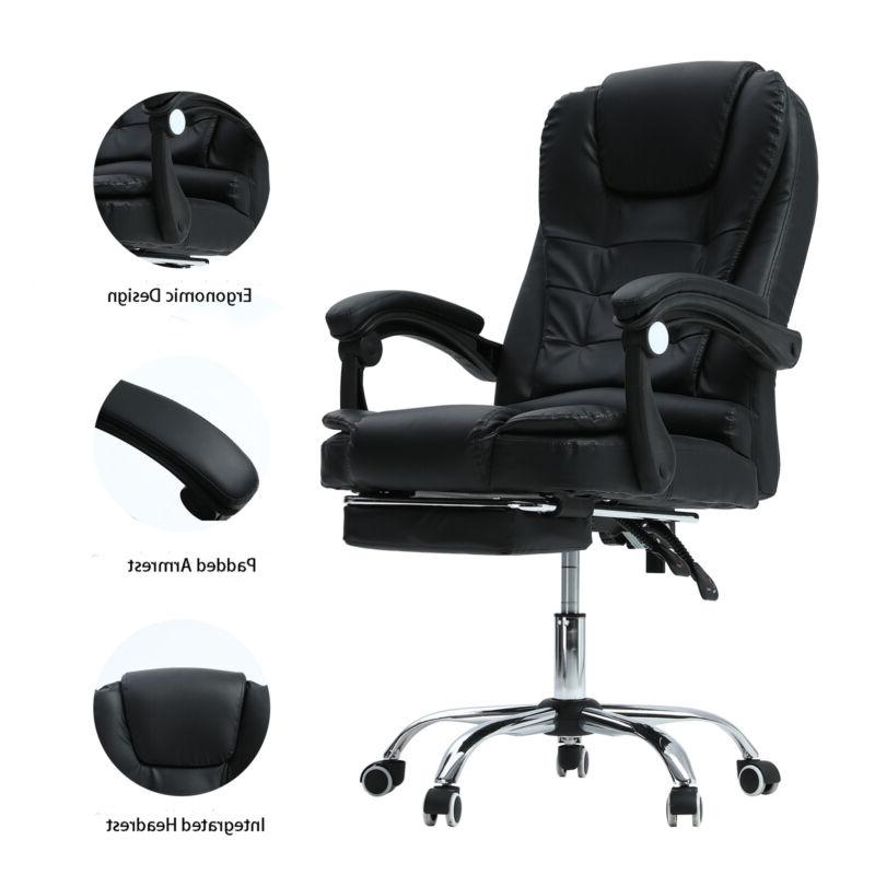 Ergonomic Computer Gaming Chair w/ Footrest