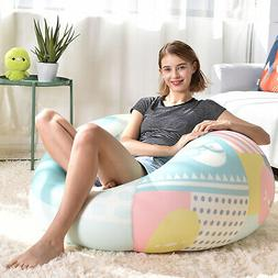 Large Bean Bag Chair Cover Comfortable Spandex Gaming Sofa S