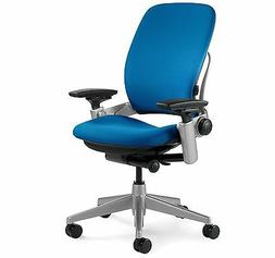 New Steelcase Leap Chair Adjustable Desk Buzz2 Blue Fabric S