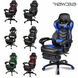 Massage Gaming Chair Video Racing Ergonomic Leather Office R