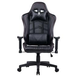 Massage PC and Video Gaming Chair Racing Style Black PU Offi