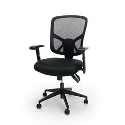 Mesh Task Chair with Arms and Lumbar Support in Black