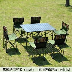 Outdoor Table and Chair Set Portable Folding Tables and Chai