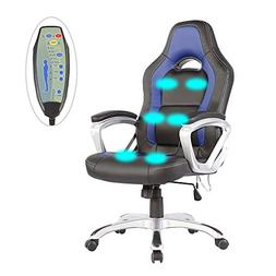 6 Point Racing Game Massage Office Chair Leather Ergonomic C