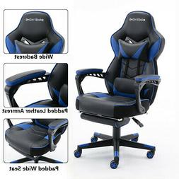 racing gaming chair ergonomic leather swivel office