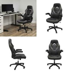 Racing Style Leather Gaming Chair Ergonomic Swivel Computer