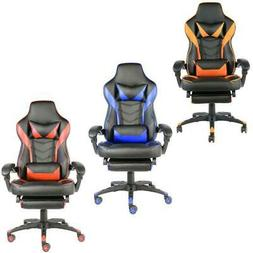 Recliner Office Gaming Chair Racing Ergonomic PU Leather Hig