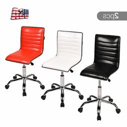 Executive Swivel Office Task Chair Mid Back Rolling Stool Ar