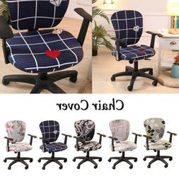 Spandex Home Office Computer Chair Cover Stretchable Rotate