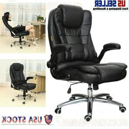 US- Office Chair Gaming Chair Desk Ergonomic Leather Compute